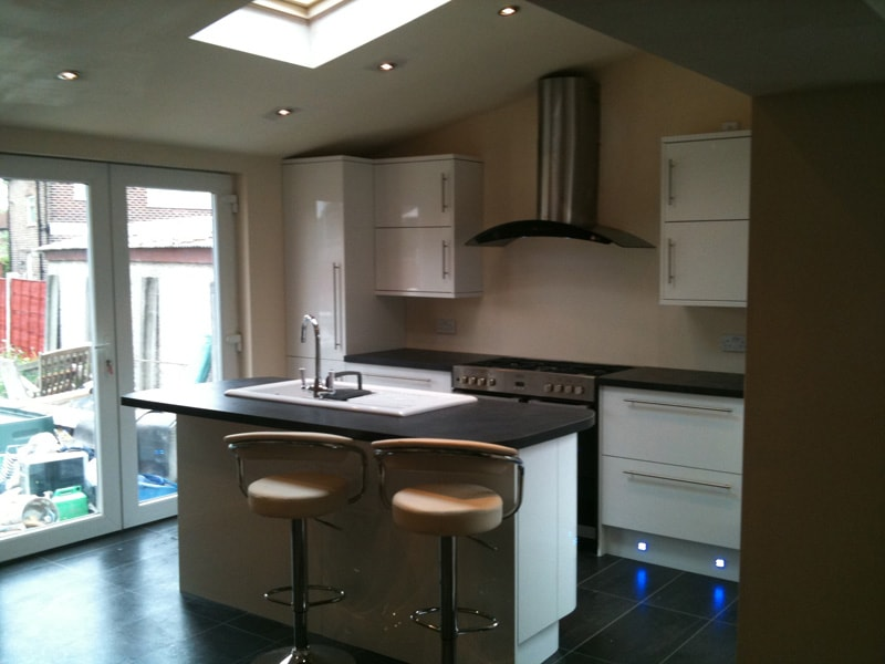 convert a garage into kitchen manchester
