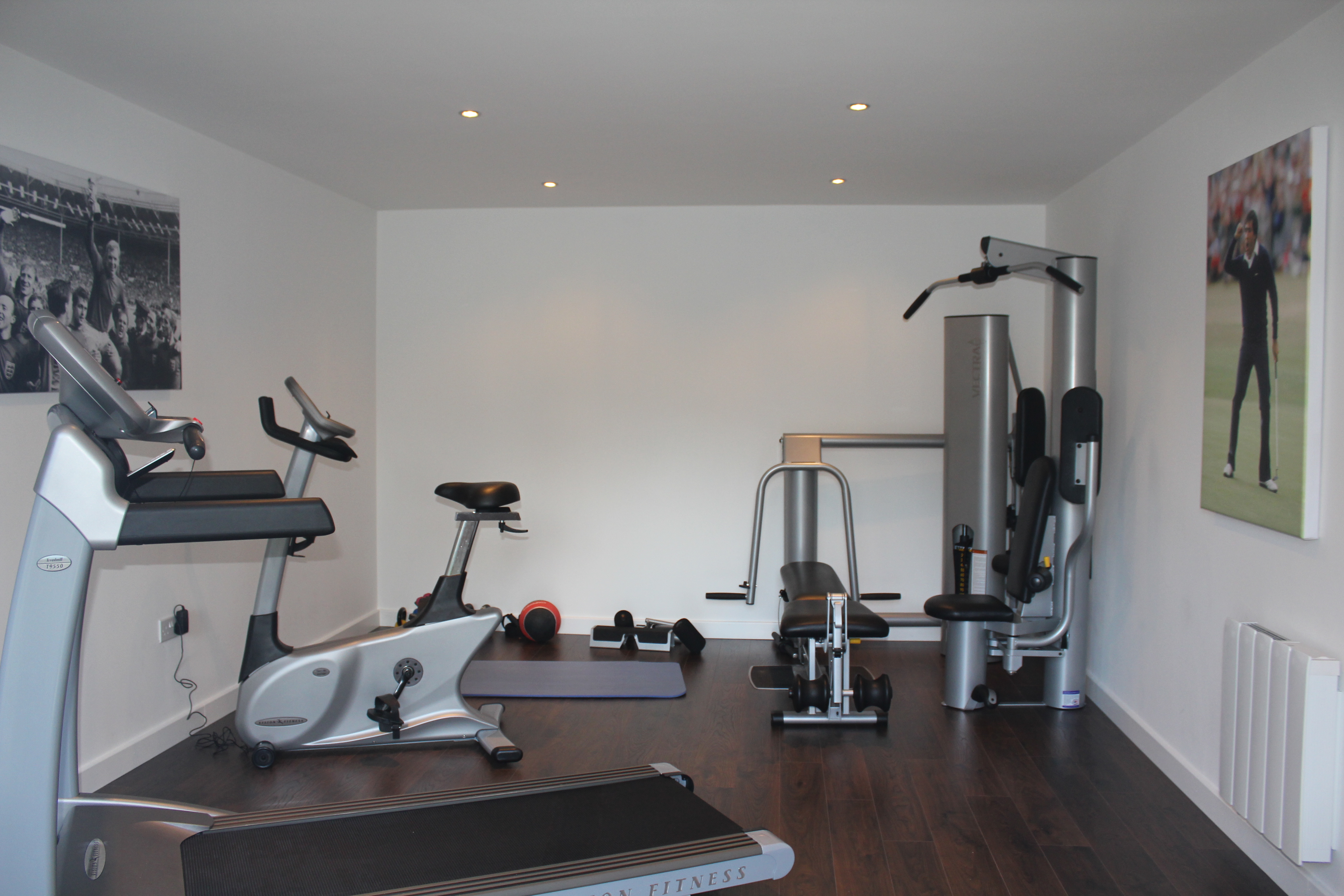 Garage conversion bolton room ideas Living room gym