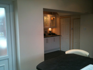 Garage Converted into a Kitchen in Irlam