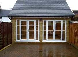 garage conversion to office. garage conversion in lancashire to office